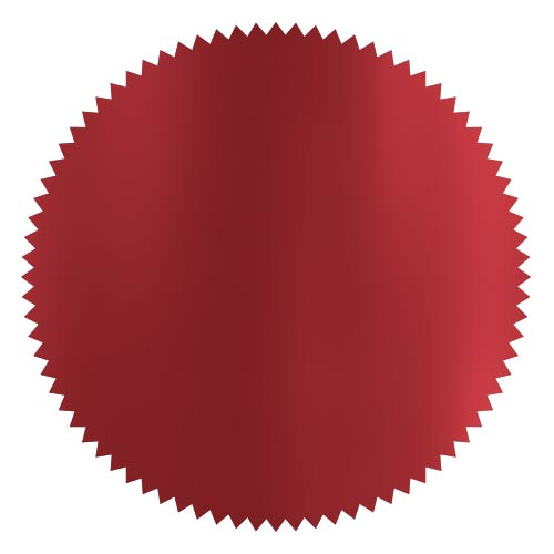 notary foil embosser stamp wafer red