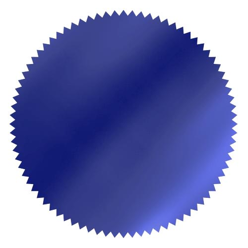 notary foil embossing wafer royal blue